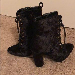 Velvet booties